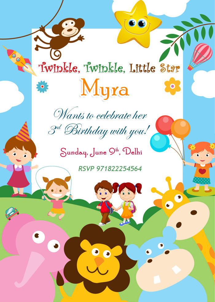 Birthday Invitation Cards Birthday Wishes Design Birthday Party – Party Invitation Card Design