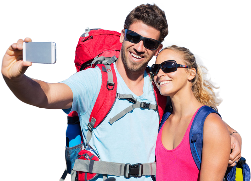 Couple Traveling Png Image
